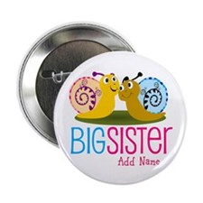 """Snail Big Sister 2.25"""" Button (10 pack)"""