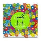 pharmacist grad abstract 2 Tile Coaster