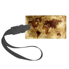 Vintage World Map Luggage Tag