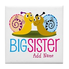 Add Name Big Sister Tile Coaster