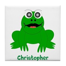 Frog Just Add Name Tile Coaster