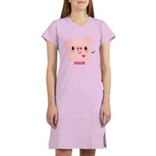Kawaii I Love Pigs Women's Nightshirt