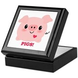 Kawaii I Love Pigs Keepsake Box
