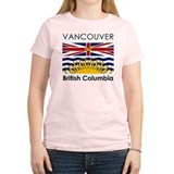 Vancouver British Columbia Women's Pink T-Shirt