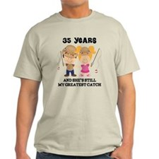 35th Anniversary Mens Fishing T-Shirt