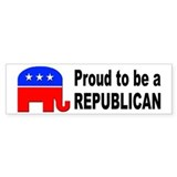 Proud Republican Bumper Car Sticker