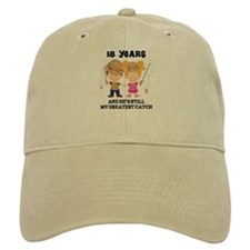 18th Anniversary Hes Greatest Catch Baseball Cap