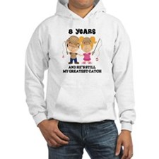 8th Anniversary Hes Greatest Catch Hoodie