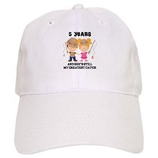 5th Anniversary Mens Fishing Baseball Cap