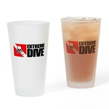 Extreme Diver (Skull) Drinking Glass