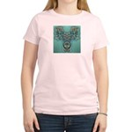 Feathered Serpent  Women's Pink T-Shirt