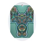 Feathered Serpent  Oval Ornament