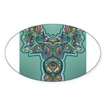Feathered Serpent Oval Sticker