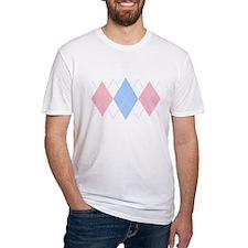 Argyle Pastel Triple Women's Pink T-Shirt