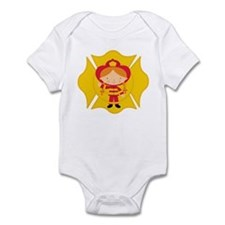 Firefighter Girl Infant Bodysuit