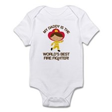 Firefighter Daddy (Worlds Best) Infant Bodysuit