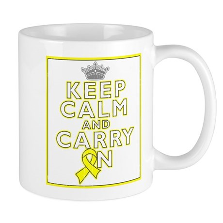 Testicular Cancer Keep Calm Carry On Mug