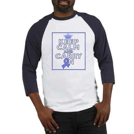Stomach Cancer Keep Calm Carry On Baseball Jersey