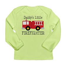 Daddy's Little Firefighter Long Sleeve Infant T-Sh