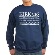 Kirk 3:16 - Star Trek Khan Sweatshirt