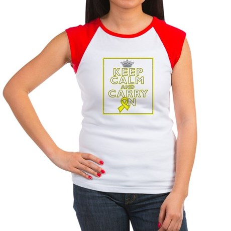 Sarcoma Keep Calm Carry On Women's Cap Sleeve T-Sh