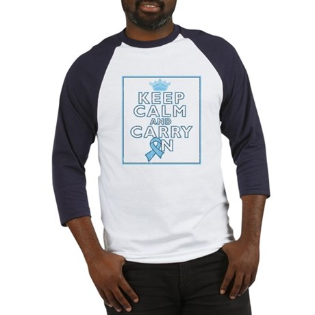 Prostate Cancer Keep Calm Carry On Baseball Jersey