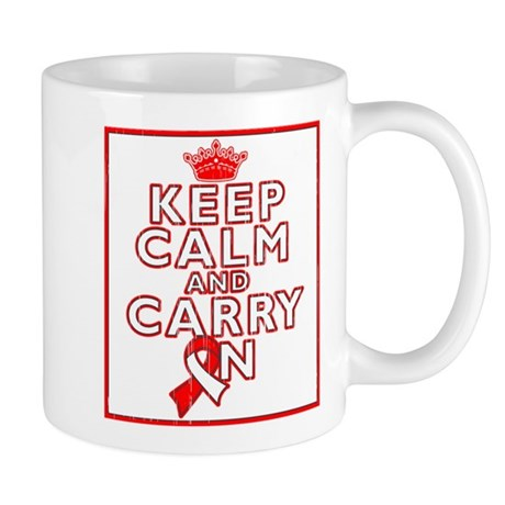 Oral Cancer Keep Calm Carry On Mug