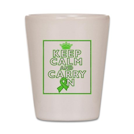 Non-Hodgkins Lymphoma Keep Calm Carry On Shot Glas