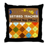 retired teacher nap pillow argyle Throw Pillow
