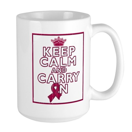 Multiple Myeloma Keep Calm Carry On Large Mug