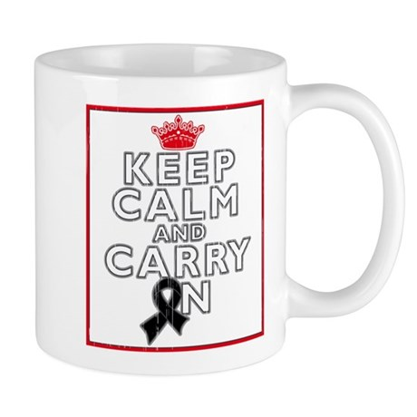 Melanoma Keep Calm Carry On Mug