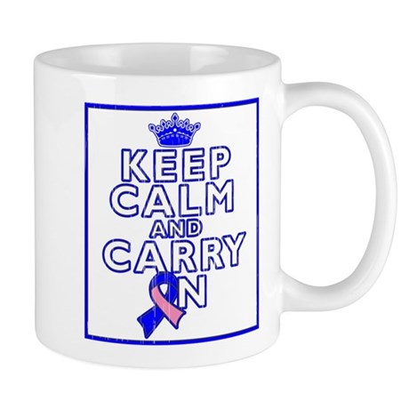 Male Breast Cancer Keep Calm Mug