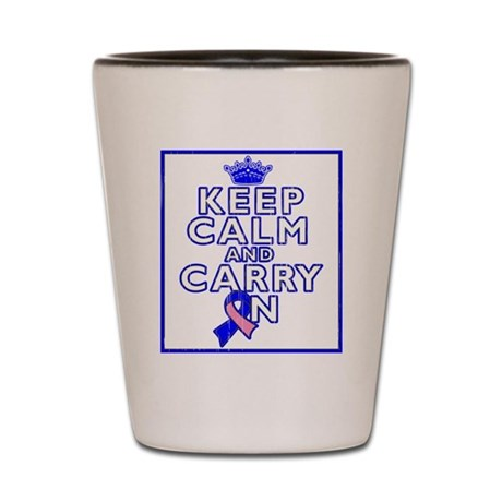 Male Breast Cancer Keep Calm Shot Glass