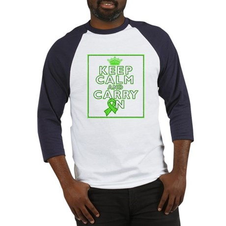 Lymphoma Keep Calm Carry On Baseball Jersey