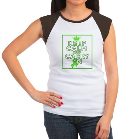 Lymphoma Keep Calm Carry On Women's Cap Sleeve T-S