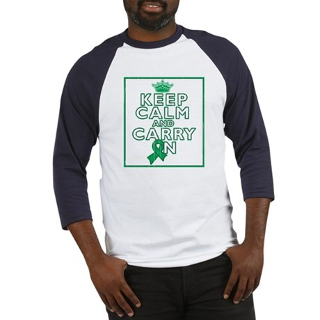Liver Cancer Keep Calm Baseball Jersey