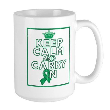 Liver Cancer Keep Calm Large Mug