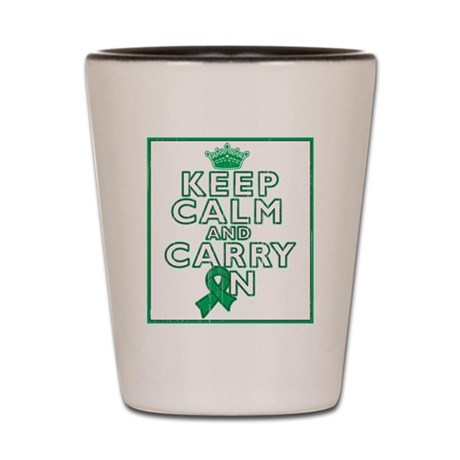 Liver Cancer Keep Calm Shot Glass