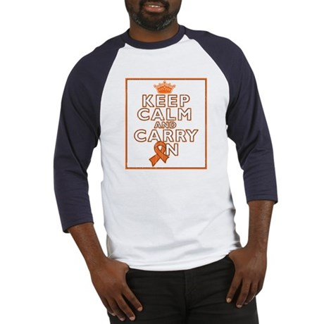 Leukemia Keep Calm Carry On Baseball Jersey