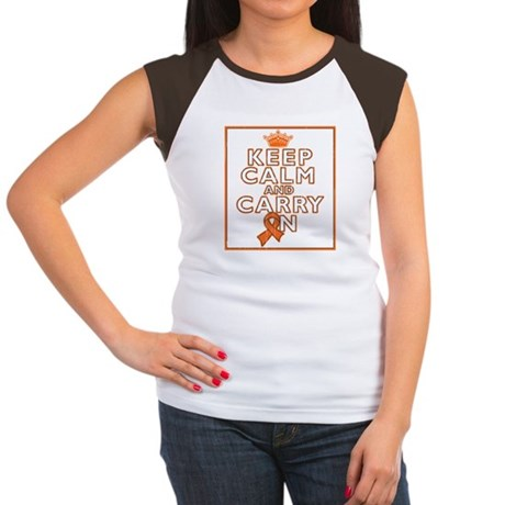 Kidney Cancer Keep Calm Women's Cap Sleeve T-Shirt