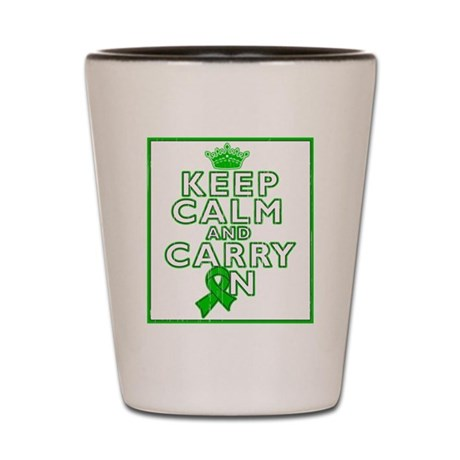 Keep Calm Kidney Cancer Shot Glass