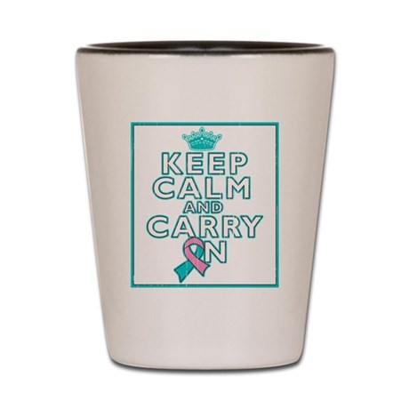 Hereditary Breast Cancer Keep Calm Carry On Shot G