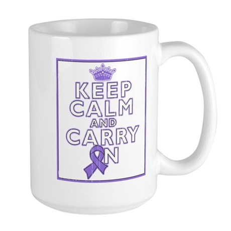 Hodgkins Lymphoma Keep Calm Large Mug