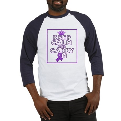 GIST Cancer Keep Calm Carry On Baseball Jersey