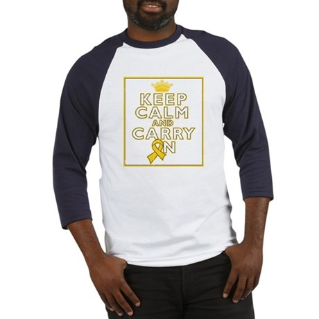 Childhood Cancer Keep Calm Baseball Jersey