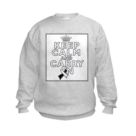 Carcinoid Cancer Keep Calm Kids Sweatshirt