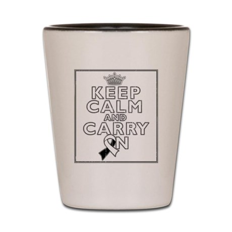 Carcinoid Cancer Keep Calm Shot Glass