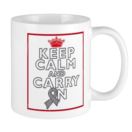 Brain Tumor Keep Calm Carry On Mug