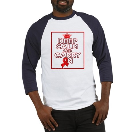 Blood Cancer Keep Calm Carry On Baseball Jersey