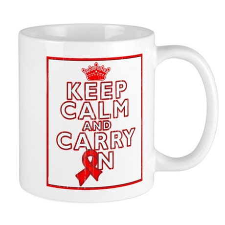 Blood Cancer Keep Calm Carry On Mug